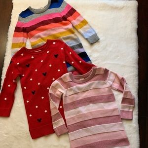 3 Gap knit sweater dresses.